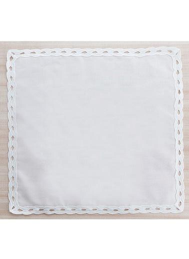 Gül Güler 4'lü Dantelli Peçete Su Dalgası 45*45 Beyaz
